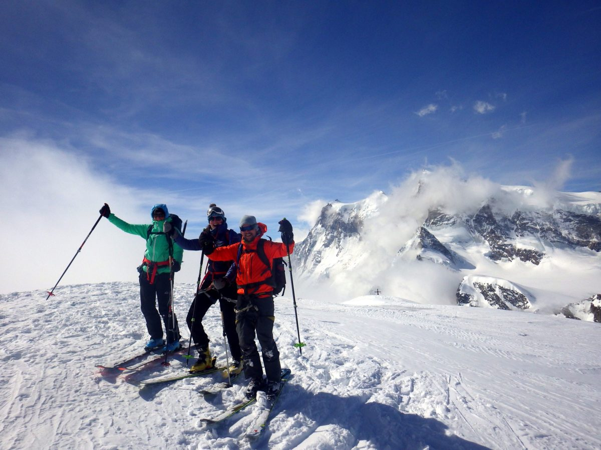 Reaching inaccessible places by ski touring